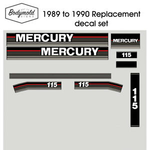 Mercury-Outboard-decals-1990-115hp-Replacement-decals