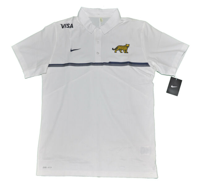 Inactivo volverse loco Gran engaño  LOS PUMAS ARGENTINA RUGBY UAR NIKE POLO SHIRT WHITE PLAYER ISSUE CHOMBA XL  for sale online