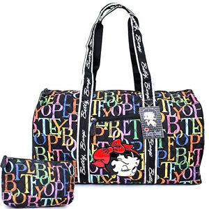 Betty Boop Quilted Duffle Travel Bag Diaper Gym Bag