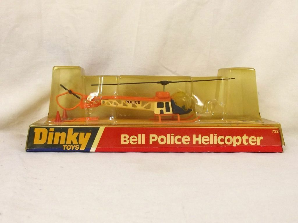 Dinky 732 Bell Police Helicopter
