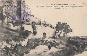 62-cpa-HEBUTERNE-Chateau-occupe-par-l-039-armee-franc
