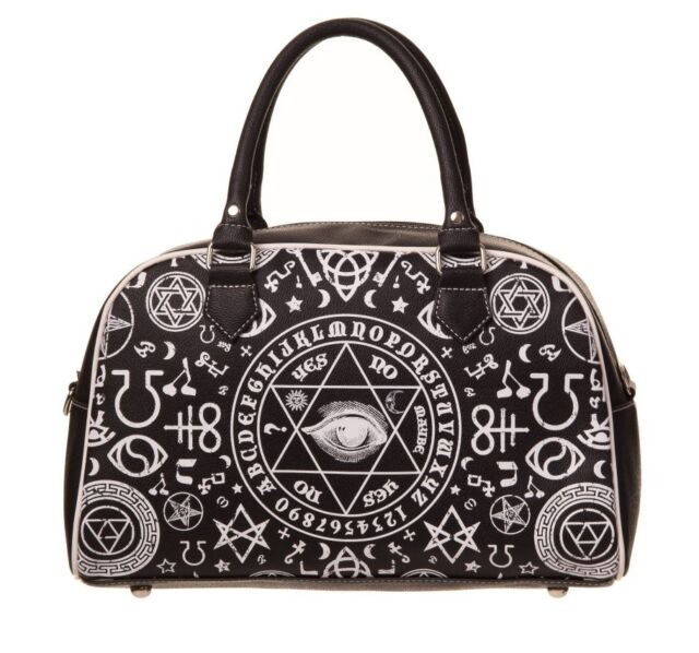 Banned Pentagram Step Aside Handbag Occult Symbols Illuminati Eye