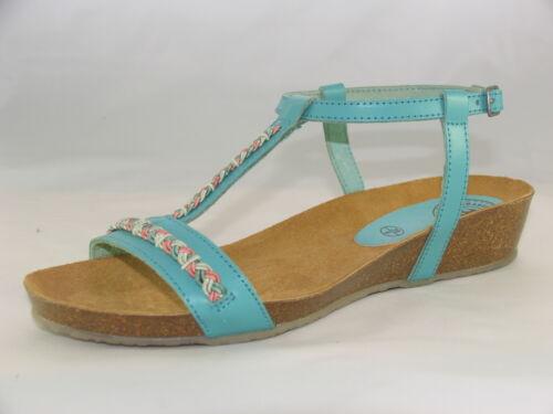 Brakeburn in pelle open toe di turchese Sandali Turquoise Boho wSABT7q