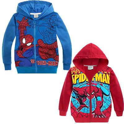 New Design Spider-Man 2Y-8Y Kids Boys Spring Autumn Hoodies Jacket Coat Outwear