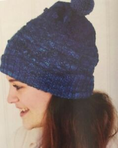1GCF - Knitting Pattern - Matching Adult AND Kids Pom Pom Wooly Hats ... c65e92bd8d1