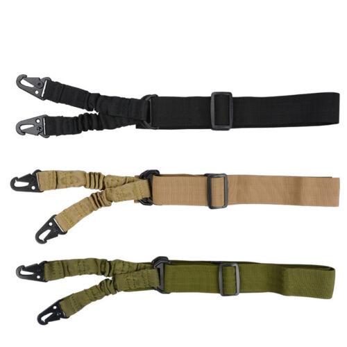 Tactical deux 2 Point Rifle Sling sangle réglable élastique ceinture Outdoor Hunting
