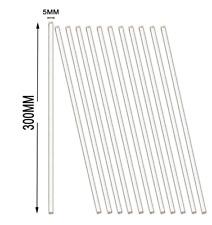 12 Pack Glass Stir Sticks Lab Stirring Rod 12 Inch Length With Both Ends Round