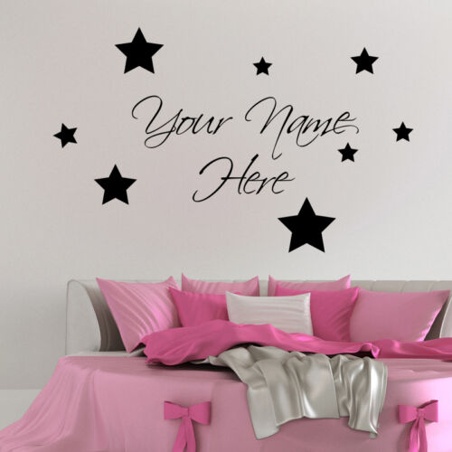 YOUR NAME PERSONALISED WALL STICKER ART DECALS QUOTE