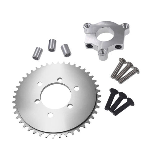"""1.5/"""" CNC Silver 44T Racing Sprocket Assembly Kit For 80cc Gas Motorised Bicycle"""