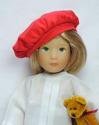 "New Secure Soft SILICONE Doll Wig Cap 6-7/"" Fits Effner BJD's Etc Boneka"