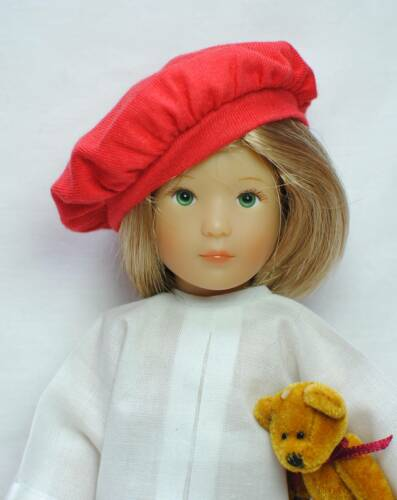 Boneka Red Beret for dolls with a head circumference of ca 15cm 6/""