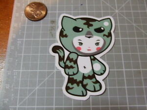 GLOSSY-CAT-OUTFIT-Sticker-Decal-Skateboard-Laptop-Stickers-NEW