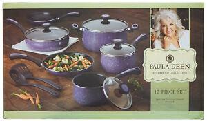 Paula Deen Riverbend Nonstick Cookware Pots & Pans Set -12 Piece