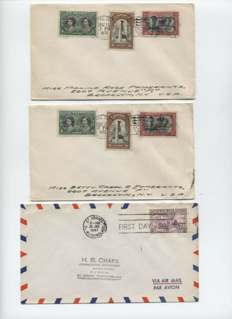 3 Canada and Newfoundland 1939-47 covers royal train etc [y5438]