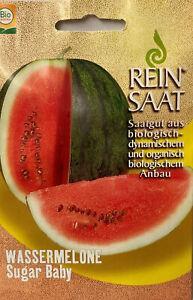 Wassermelone Sugar Baby Samen - Bio Austria - aus biologischem Anbau, Melone