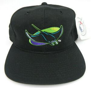 TAMPA-BAY-RAYS-MLB-VINTAGE-SNAPBACK-1990s-RETRO-BLACK-CAP-HAT-NWT-OUTDOOR-CAP