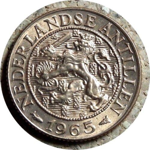 elf Netherlands Antilles 1 Cent 1965  Lion