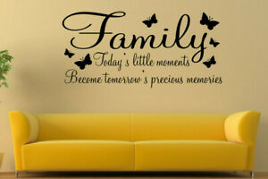 Image Is Loading WALL ART STICKER FAMILY QUOTE INSPIRATIONAL WORDS PHRASES