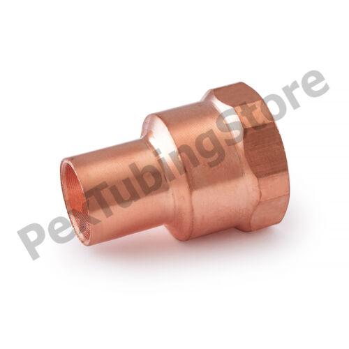 """1//2/"""" Ftg x 1//2/"""" Female NPT Threaded Street Copper Adapter"""