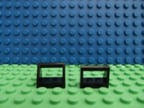 8 LEGO Black Tile Modified 1 x 2 Pin with Handle 1x2 Part 2432