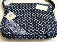 Vera Bradley Nantucket Navy Messenger Bookbag Laptop Rare Baby Bag Shoulder