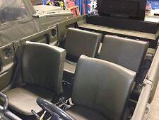 VW 181 Kübel Sitzbezüge RAL6014 = 2 Vordersitze, 1 Rückbank und 2 Lehnen hinten