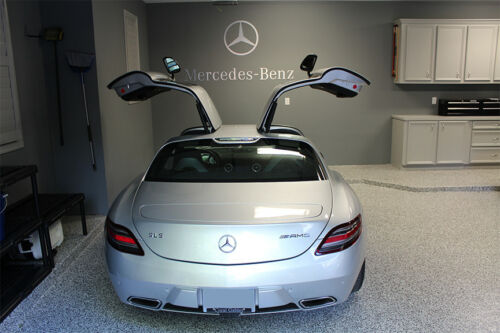 Mercedes Benz Star /& Text combo Garage Sign 6 Feet Long  Brushed Silver