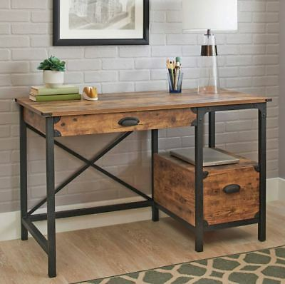 Small Desk Rustic Vanity Antique Writing Center Table Wood Metal New 630299493506 Ebay