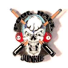 POOL HALL JUNKIE HAT OR JACKET PIN pin347 new jacket lapel metal billards skull