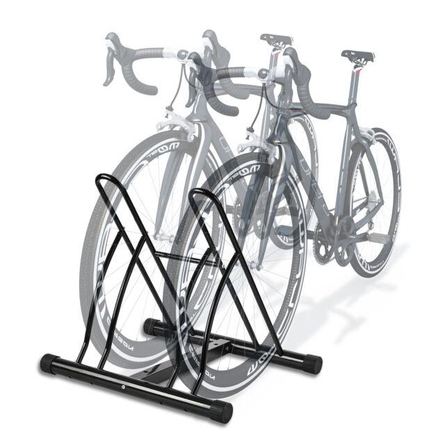 Goplus 4 Bike Rack Bicycle Floor Stand Parking Garage Storage