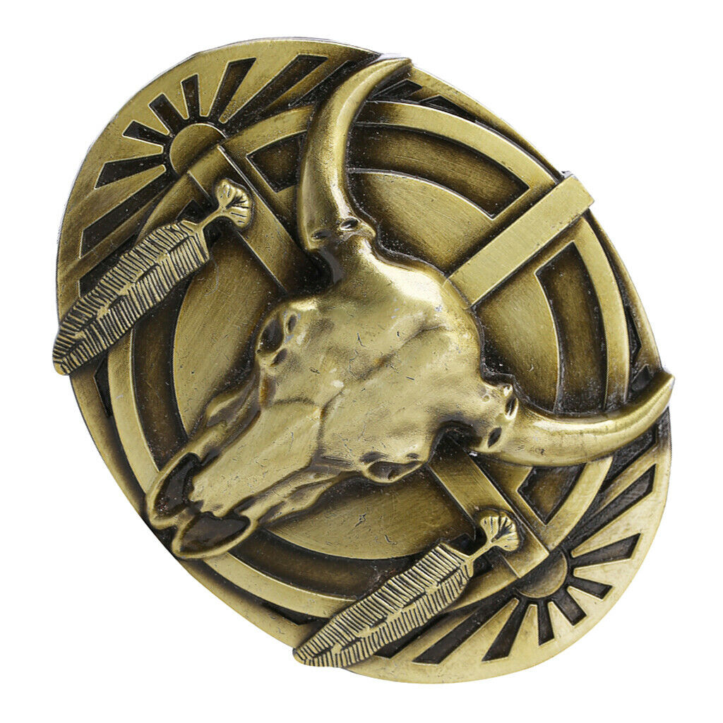 Antique Western Cowboy Belt Buckle Engraved Native American Rodeo Jewelry