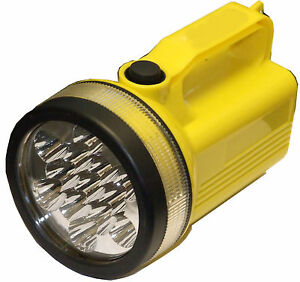 LAMPE TORCHE LED JAUNE NEUF
