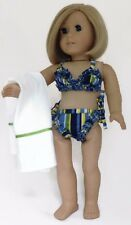 Beach Towel fit American Girl /& Chatty Cathy BLUE//YELLOW//WHITE FLOWER SWIMSUIT