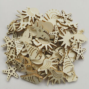 50pcs-Under-The-Sea-Wooden-MDF-Cardmaking-Hanging-Ornaments-Embellishment-Craft
