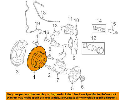 For BMW Genuine Disc Brake Rotor Rear Right 34212284904