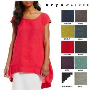 BRYN-WALKER-USA-Heavy-Linen-AMY-TUNIC-Long-Balloon-Top-XS-S-M-L-X-SPRING-2018