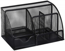 Greenco Grc2548 Mesh Office Supplies Desk Organizer Caddy 6 Compartments Black