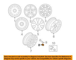 Ford OEM YS4Z-1012-CA Genuine Wheel Nut
