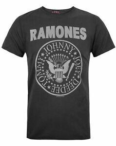 Amplified-Ramones-Logo-Men-039-s-T-Shirt