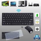 Slim 2.4ghz Wireless Keyboard and Cordless Mouse Black Kit for Desktop Laptop PC