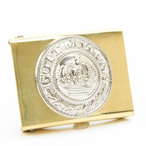 Imperial German WWI Prussian Brass and Nickel Gott Mit Uns Belt Buckle