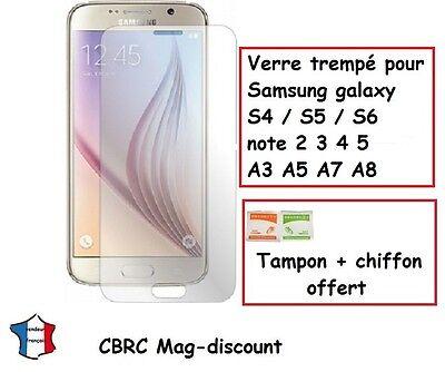 VITRE protection film en VERRE TREMPE pour Samsung galaxy S4 S5 S6 note A