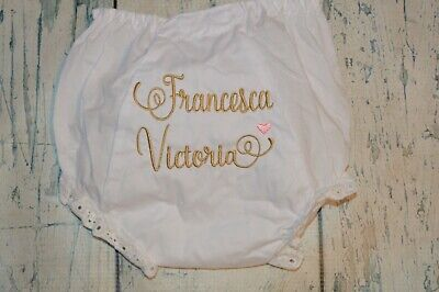 CUSTOM Personalized  Baby Bloomers Diaper Cover  Monogram and Name Baby Toddler