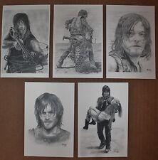 Walking Dead Postcard Prints, Original art, pencil art, drawings