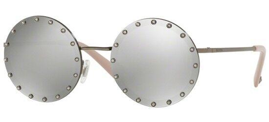 Valentino VA 2010B Ruthenium/Grey Mirrored (3005/6G) Sunglasses