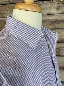 Brooks-Brothers-Regent-Dress-Shirt-16-5-36-Non-Iron-Supima-Cotton-Purple