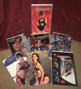 Avengelyne comics 1, 2 & 3 Variant covers, autographed, swimsuit editions