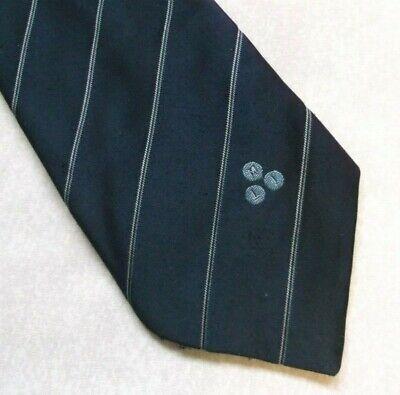Miele Vintage Cravatta Da Uomo Cravatta Crested Logo Aziendale Corporate Blu Mli 1980s 1990s-mostra Il Titolo Originale