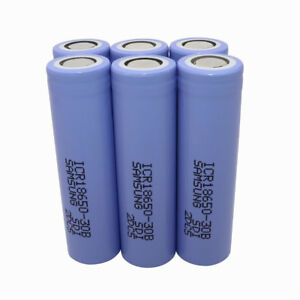 6X-18650-Battery-ICR-3000mAh-3-7V-Li-ion-Rechargeable-Flat-High-Drain-for-Vape