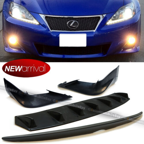 OE Front Bumper Lip add on Fit 11-13 IS250 IS350 Diffuser Trunk Spoiler